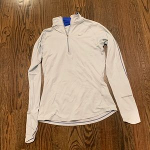 Nike light blue pullover dri-fit 1/4 zip small